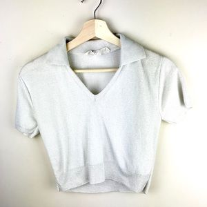 Vintage Cropped Collar Tee